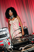 DJ Beverly Bond at the Toyota celebration of the launch of the online interactiveadventure IFLOOKSCOULDKILL.COM, held at Eyebeam on June 11, 2008 in NYC