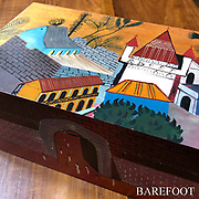 BAREFOOT. Hand painted wooden boxes.