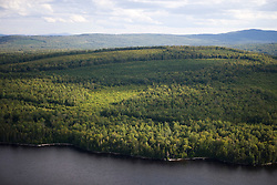 Site of proposed development on Brassua Lake Maine USA