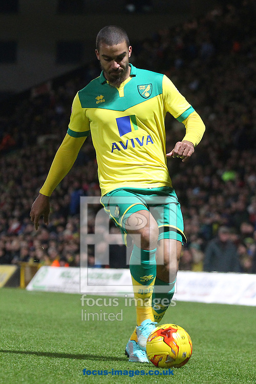 Lewis Grabban of Norwich in action during the Sky Bet Championship match at Carrow Road, Norwich<br /> Picture by Paul Chesterton/Focus Images Ltd +44 7904 640267<br /> 13/12/2014