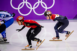 20-02-2018 KOR: Olympic Games day 11, PyeongChang<br /> 1000m vrouwen shorttrack / Yara Van Kerkhof of the Netherlands, Jinyu Li of China