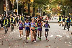Moreira leads pack of elite women mile 9 in Brooklyn