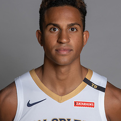 Sep 24, 2018; New Orleans, LA, USA; New Orleans Pelicans guard Frank Jackson (15) poses for a portrait during Media Day at Ochsner Performance Center. Mandatory Credit: Derick E. Hingle-USA TODAY Sports