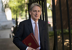 © Licensed to London News Pictures. 19/07/2016. London, UK. Chancellor of the Exchequer Philip Hammond arrives in Downing Street for Prime Minister Theresa May's first cabinet.  Photo credit: Peter Macdiarmid/LNP
