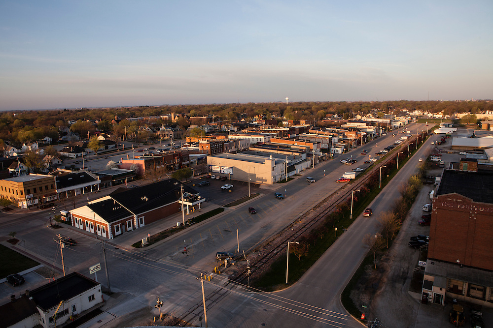 A view of downtown on Wednesday, March 28, 2012 in Webster City, IA.
