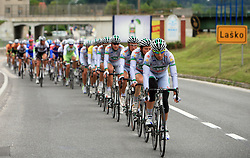 Team LPR Brakes - Ballan IRL leading the peloton in Lasko  in last 4th stage of the 15th Tour de Slovenie from Celje to Novo mesto (157 km), on June 14,2008, Slovenia. (Photo by Vid Ponikvar / Sportal Images)/ Sportida)