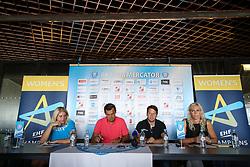 Misa Marincek, Uros Bregar and Deja Doler at press conference of RK Krim before new season 2017/18, on August 16, 2017 in SRC Stozice, Ljubljana, Slovenia. Photo by Matic Klansek Velej / Sportida