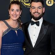 NLD/Amsterdam/20191009 - Uitreiking Gouden Televizier Ring Gala 2019, Sjinkie Knegt en partner Fenna