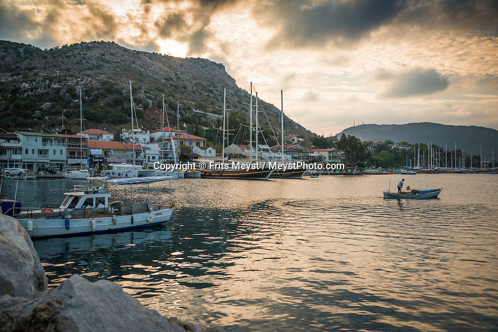 Bozburun, Turkey, October 2015. Situated roughly between the seaside resorts of Marmaris and Bodrum and the Latmos mountains in the east lies Ancient Caria. The Carian Trail runs through pine scented forests along the coastal mountains of Western Turkey and is littered with ancient ruins, secluded coves with turquoise waters and little villages. more than 800km of ancient roads, shepherd paths and forest trails form Turkey's longest hiking trail. Photo by Frits Meyst / MeystPhoto.com