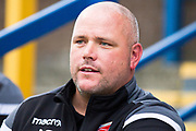 Morecambe manager Jim Bentley during the EFL Sky Bet League 2 match between Macclesfield Town and Morecambe at Moss Rose, Macclesfield, United Kingdom on 20 August 2019.