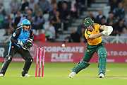 Dan Christian of Nottinghamshire Outlaws is caught behind by Ben Cox of Worcestershire Rapids during the Vitality T20 Blast North Group match between Nottinghamshire County Cricket Club and Worcestershire County Cricket Club at Trent Bridge, West Bridgford, United Kingdon on 18 July 2019.