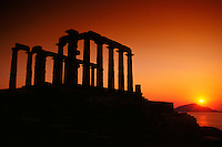 Temple of Poseidon, Cape Sounion, Attica Peninsula, near Athens, Greece