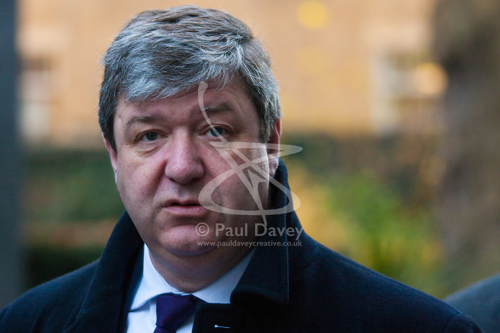 London, December 15th 2014. Northern Ireland's first and deputy first ministers join Scottish and Welsh leaders for Joint Ministerial Committee talks with David Cameron in Downing Street. The talks come three days after Cameron's offer of a financial package for the Northern Ireland Executive was rejected by Stormont. PICTURED: Scottish Secretary Alistair Carmichael talks to the press.
