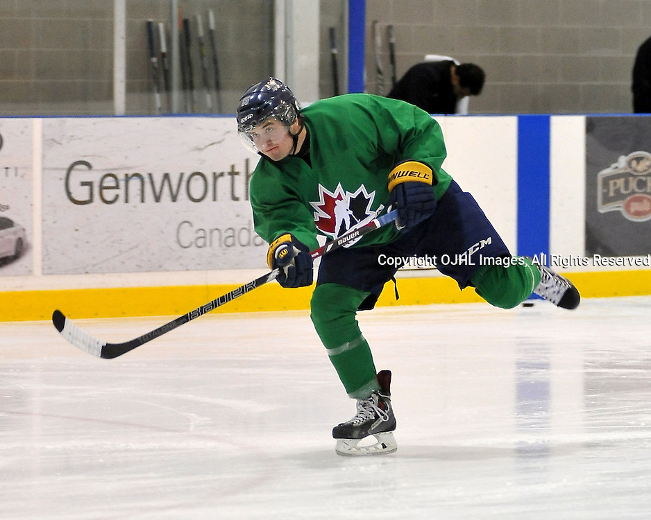 OAKVILLE, ON - Oct 28 : 2013 World Junior A Challenge / Defi Modial Junior A 2013.<br /> (Photo by Shawn Muir / OJHL Images)