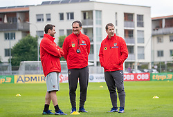 02.06.2018, Woerthersee Stadion, Klagenfurt, AUT, ÖFB Nationalteam, Training, während einem öffentlichen Training des ÖFB Nationalteams am Sonntag, 2. Juni 2019 im Wörtherseestadion in Klagenfurt, im Bild v.l. Assistenz-Trainer Imre Szabics (AUT), Assistenz-Trainer Thomas Kristl (AUT), Teamchef Franco Foda (AUT) // f.l. Austrian assistant coach Imre Szabics Austrian assistant coach Thomas Kristl Austrian head coach Franco Foda during a Trainingssession of Austrian National Footballteam at the Woerthersee Stadion in Klagenfurt, Austria on 2018/06/02. EXPA Pictures © 2019, PhotoCredit: EXPA/ Johann Groder