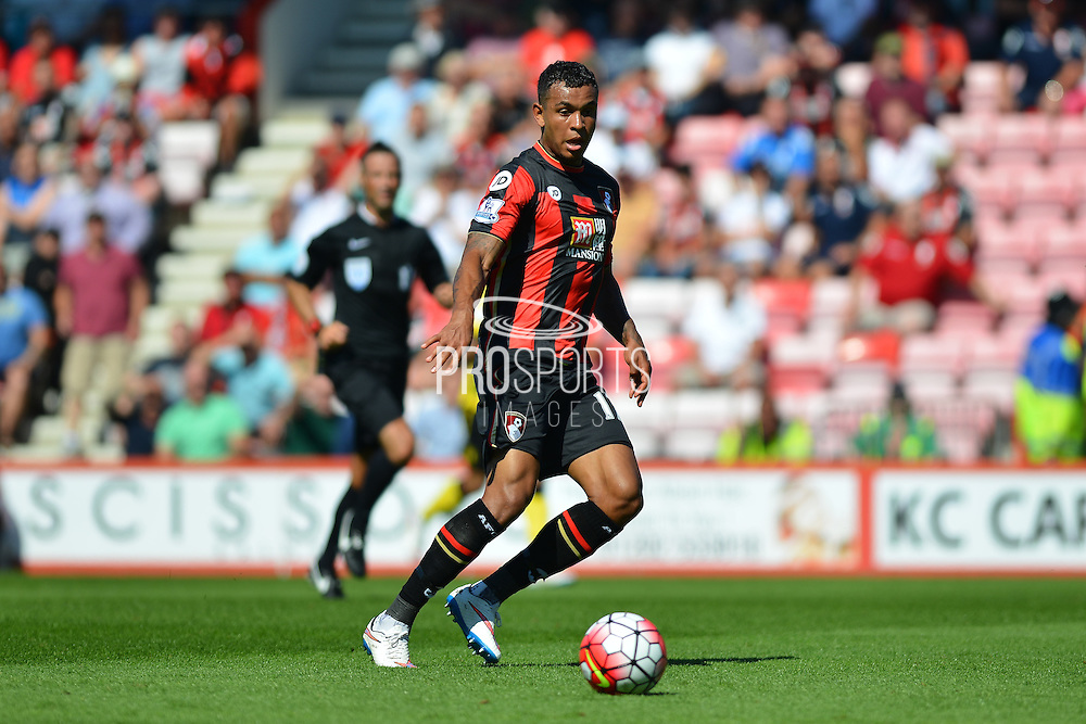 AFC Bournemouth's Tyrone Mings during the Barclays Premier League match between Bournemouth and Aston Villa at the Goldsands Stadium, Bournemouth, England on 8 August 2015. Photo by Mark Davies.
