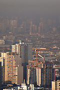 Santiago en imagenes panoramicas desde edificio Telefonica.    Abril de 2012. Patricio Valenzuela Hohmann
