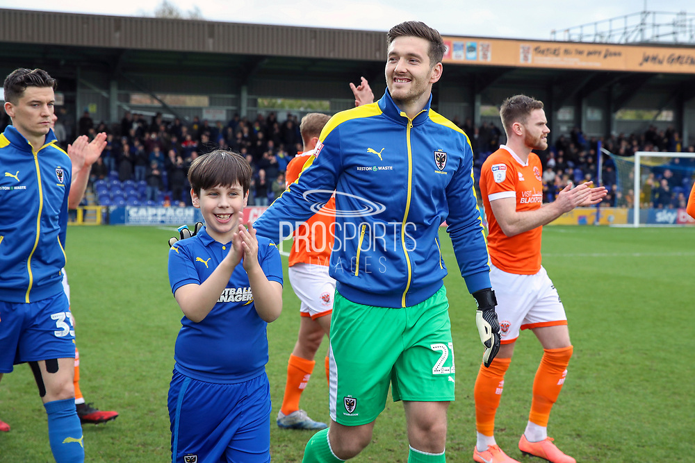 Mascot during the EFL Sky Bet League 1 match between AFC Wimbledon and Blackpool at the Cherry Red Records Stadium, Kingston, England on 22 February 2020.