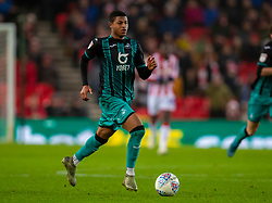 STOKE-ON-TRENT, ENGLAND - Saturday, January 25, 2020: Swansea City's Rhian Brewster during the Football League Championship match between Stoke City FC and Swansea City FC at the Britannia Stadium. (Pic by David Rawcliffe/Propaganda)