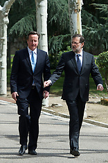 APR 8 2013 David Cameron visits Prime Minister Mariano Rajoy