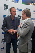 WILL SELF; DAN STEVENS, The Man Booker prize 2012 drinks to celebrate the shortlist. The Orangery, Holland Park. London. 11 September 2012.