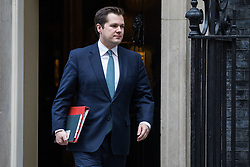 London, UK. 7 January, 2020. Robert Jenrick, Secretary of State for Housing, Communities and Local Government, leaves 10 Downing Street following a Cabinet meeting.