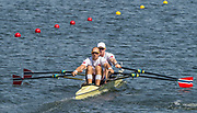 "Rio de Janeiro. BRAZIL.   NOR M2X Bow. Kjetil<br /> BORCH and Olaf<br /> TUFTE, 2016 Olympic Rowing Regatta. Lagoa Stadium,<br /> Copacabana,  ""Olympic Summer Games""<br /> Rodrigo de Freitas Lagoon, Lagoa. Local Time 12:00:06   Saturday  06/08/2016 <br /> <br /> [Mandatory Credit; Peter SPURRIER/Intersport Images]"