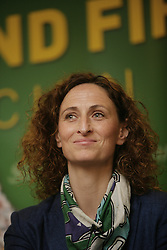 Sinn Fein's European Parliament Elections candidate Lynn Boylan smiles during the launch of their party's Manifesto for the European Parliament Elections, in Belfast, Northern Ireland, Monday May 12th, 2014. Sinn Fein are putting forward four candidates for the European Elections on May 22. Monday, 12th May 2014. Picture by i-Images