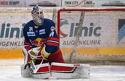 12.04.2019, Albert Schultz Halle, Wien, AUT, EBEL, Vienna Capitals vs EC Red Bull Salzburg, Halbfinale, 7. Spiel, im Bild Stephen Michalek (EC Red Bull Salzburg) // during the Erste Bank Icehockey 7th semifinal match between Vienna Capitals and EC Red Bull Salzburg at the Albert Schultz Halle in Wien, Austria on 2019/04/12. EXPA Pictures © 2019, PhotoCredit: EXPA/ Alexander Forst