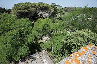 Nella piazza centrale dell'antico paesino di Casamassella, frazione del Comune di Uggiano La Chiesa, si affaccia l'austero Castello De Viti de Marco, dimora storica tra le più eleganti e prestigiose dell'entroterra salentino, a soli 3 km da Otranto.<br /> Le sue origini risalgono al 1200 quando, sotto il regno di Carlo d'Angiò, fu eretto come residenza fortificata. Trasformato nel 1700 in un palazzo nobiliare, fu arricchito di balconi e finestre. La superba facciata è caratterizzata da un magnifico balcone mensolato, incastonato in una nicchia ad arco soprastante il portale centrale.<br /> Non appena si varca la soglia del castello, sembra di rivivere un'epoca nobile e remota, quando il palazzo rappresentava il centro di tutte le attività del borgo circostante. Dal cortile centrale si può ammirare l'affascinante prospetto interno, che è stato accuratamente ristrutturato mantenendo il suo aspetto originario. Archi a ogiva medioevali ed elementi architettonici del settecento convivono armoniosamente creando un ambiente suggestivo ed elegante che conduce al giardino mediterraneo, con lo scenografico colonnato a pergola. <br /> Attraverso ampie vetrate ad arco, si accede alle sale da ricevimento del palazzo. Caratteristiche di antichi manieri le sale, dalle grandi volte a botte, avvolgono l'ospite in una luce calda ed accogliente e lo conducono, attraverso un romantico giardino d'inverno, allo spazio esterno dove piacevoli sentieri invitano a passeggiare immersi nella quiete.
