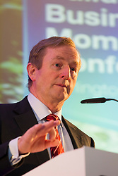 24/05/2013. An Taoiseach, Enda Kenny, T.D. is pictured at the Bank of Ireland conference 'Building Business Momentum'. Attended by approximately 800 SMEs from the Dublin region, it looked at future growth across key sectors in the Irish economy and marked the conclusion of a series of business events nationwide as part of Bank of Ireland's 8th National Enterprise Week..Other speakers at the event included Pat McCann, Chief Executive, Dalata Hotel Group, Eleanor Nash, Group Head of Human Resources, Eason and Son Ltd., Oliver Tattan, CEO, Insurance Regulatory Capital, Professor Peter Cooke, Professor of Automotive Management, The University of Buckingham,  Mark FitzGerald, Chief Executive,  Sherry FitzGerald Group and Kingsley Aikins, Principal, Diaspora Matters. Picture Andres Poveda