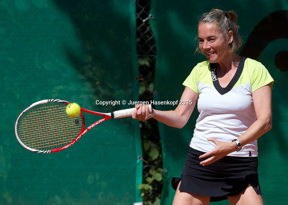 Munich Senior Open 2015 WS45, Singles ,Katja Albrecht,<br /> <br /> Tennis - Munich Senior Open - ITF Senioren Turnier -  Tennis Kooperation Muenchen-Johanniskirchen - Muenchen - Bayern - Germany  - 31 July 2015. <br /> &copy; Juergen Hasenkopf