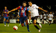 Joe Ledley battling for posession during the Pre-Season Friendly match between Bromley and Crystal Palace at the Courage Stadium, Bromley, United Kingdom on 30 July 2015. Photo by Michael Hulf.
