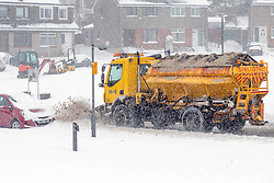 The Beast From the East, Dunfermline, 01/03/2018<br />A snow plough travels through Pitcorthie, Dunfermline<br />(c)Craig Brown| Edinburgh Elite media
