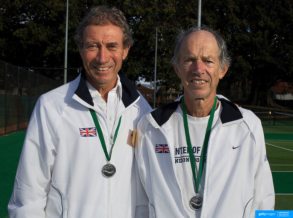 Clive Hutchings, Great Britain, (left) and Rod Petchey, Great Britain, Runners up,  70 Mens doubles competition during the 2009 ITF Super-Seniors World Team and Individual Championships at Perth, Western Australia, between 2-15th November, 2009
