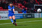 AFC Wimbledon defender Luke O'Neill (2) during the The FA Cup match between Doncaster Rovers and AFC Wimbledon at the Keepmoat Stadium, Doncaster, England on 19 November 2019.