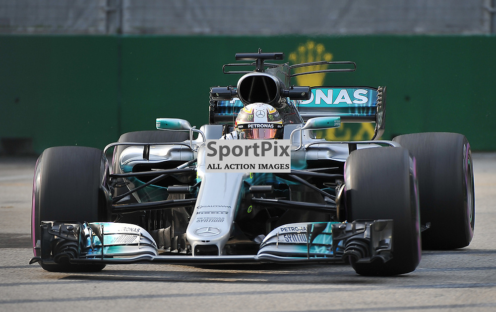Lewis Hamilton, Mercedes AMG Petronas F1 Team.<br /> Day 2 of the 2017 Formula 1 Singapore Airlines, Singapore Grand Prix held at The Marina Bay street circuit, Singapore on the 15th September 2017.<br /> Wayne Neal   SportPix.org.uk