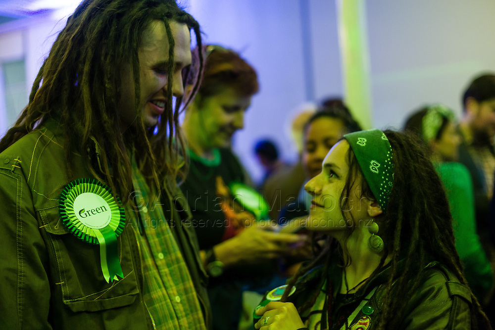 The Hopetoun Alpha, the Green party's HQ for the night of the 2014 New Zealand General Election