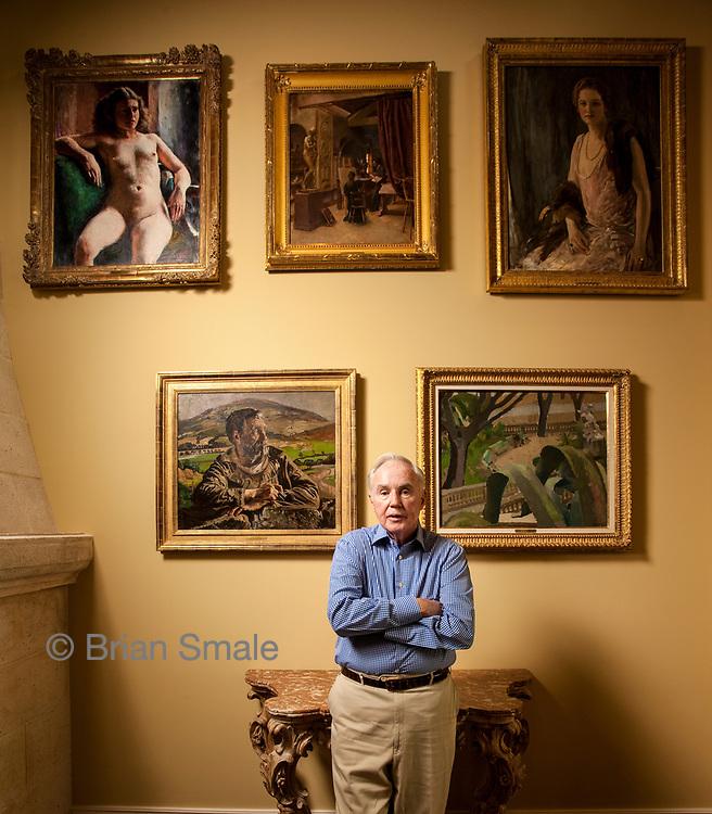 Brian Burns in his Palm Beach home.