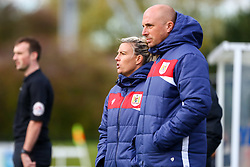 Tanya Oxtoby manager of Bristol City Women and Chris Roberts assistant coach for Bristol City Women - Mandatory by-line: Ryan Hiscott/JMP - 14/10/2018 - FOOTBALL - Stoke Gifford Stadium - Bristol, England - Bristol City Women v Birmingham City Women - FA Women's Super League 1