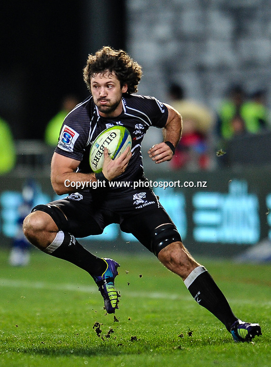 Ryan Kankowski of the Sharks in the Super Rugby Semi Final match,  Crusaders v Sharks, at AMI Stadium, Christchurch, on the 26 July 2014 . Photo:John Davidson/www.photosport.co.nz