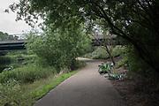 River Lea, Hackney,  , London, . 23 June 2019