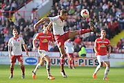 Sheffield United defender John Brayford (5) and Harry Davis (4) of Crewe Alexandra  during the Sky Bet League 1 match between Sheffield Utd and Crewe Alexandra at Bramall Lane, Sheffield, England on 25 March 2016. Photo by Ian Lyall.