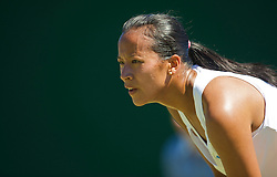 LONDON, ENGLAND - Tuesday, June 23, 2009: Anne Keothavong (GBR) during the Ladies' Singles 1st Round match on day two of the Wimbledon Lawn Tennis Championships at the All England Lawn Tennis and Croquet Club. (Pic by David Rawcliffe/Propaganda)