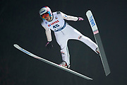 Poland, Wisla Malinka - 2017 November 18: Vojtech Strusa from Czech Republic soars through the air during FIS Ski Jumping World Cup Wisla 2017/2018 - Day 1 at jumping hill of Adam Malysz on November 18, 2017 in Wisla Malinka, Poland.<br /> <br /> Mandatory credit:<br /> Photo by &copy; Adam Nurkiewicz<br /> <br /> Adam Nurkiewicz declares that he has no rights to the image of people at the photographs of his authorship.<br /> <br /> Picture also available in RAW (NEF) or TIFF format on special request.<br /> <br /> Any editorial, commercial or promotional use requires written permission from the author of image.