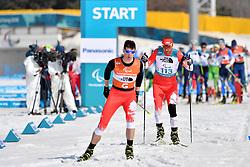 GARBOWSKI Piotr POL B3 Guide: TWARDOWSKI Jakub competing in the ParaBiathlon, Para Biathlon at  the PyeongChang2018 Winter Paralympic Games, South Korea.