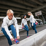 A group of female athletes from Adidas Runners are pictured in Copenhagen