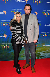 Joanne Mas and Danny Dyer attending the premiere of Cirque du Soleil's Totem, in support of the Sentebale charity, held at the Royal Albert Hall, London.