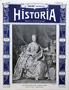 Front cover of issue no. 1 of Lisez-Moi Historique, Historia, a bi-monthly history magazine, published December 1909, featuring a portrait of the Marquess of Pompadour by La Tour. This magazine is part of the Historia group, a monthly history magazine created by Jules Tallandier and published 1909-37 and again from 1945. Picture by Manuel Cohen