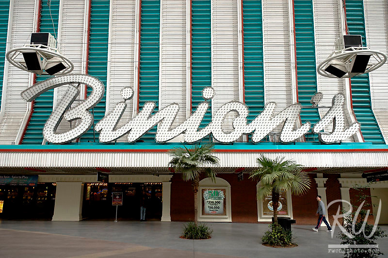 Tourist Walking to Binion's Casino, Downtown Las Vegas, Nevada
